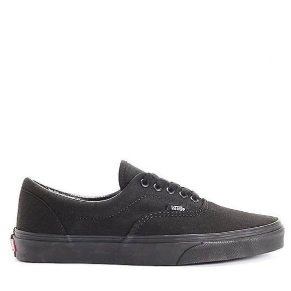 18a7a06501 Vans Era Classic All Black Skate Shoes. M 5bf71887c9bf5012504a0c5f